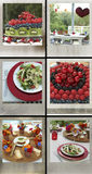 Party food. Party selection of healthy food with fresh berries, fruit and vegetables set outside Stock Photo