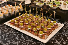 Party food assortment Stock Images