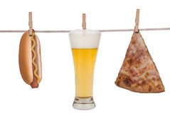 Party food hanging on a clothe Stock Photography