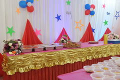 Party food. Luxurious catering food for reception party royalty free stock image