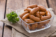 Party Food (Mini Sausages) Royalty Free Stock Image