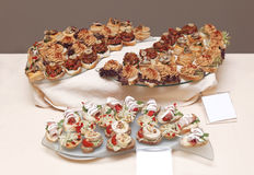 Party food plates Stock Photos