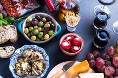 Party food, spanish tapas Stock Image