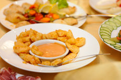 Party food on the table Royalty Free Stock Images