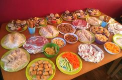 Party food on a table. Stock Photos
