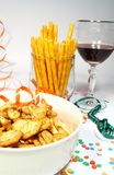 Party food and wine Stock Photography