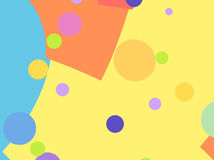 Party fractal background with colorful shapes and circles Royalty Free Stock Images