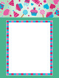 Party frame with banner Stock Images