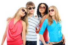 Party with friends Royalty Free Stock Photo