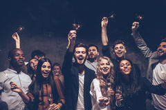 Party with friends. Stock Photography