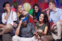 Party with friends royalty free stock image