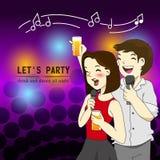 Party friendship cartoon Royalty Free Stock Photo
