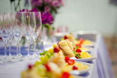 Party fruit table set Stock Photo