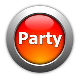 Party and fun button Stock Image