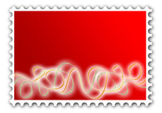 Party fun postage stamp invitation Stock Images