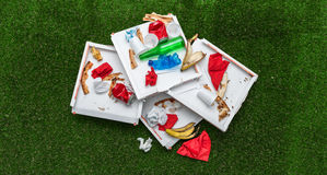 After party garbage Stock Photos
