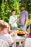 Party in the garden Stock Photography