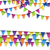 Party garlands colored Stock Photos