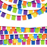 Party garlands colored Stock Photo