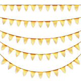 Party garlands colored golden Stock Images