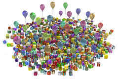 Party Gifts Variety Bunch Royalty Free Stock Photography