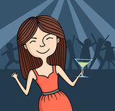 Party girl Imagem de Stock