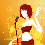 Party girl. Illustration drawing of party girl Stock Illustration