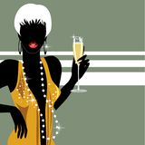 Party girl with champagne Stock Photography