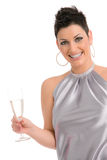 Party girl with champagne Stock Images