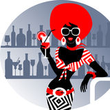 Party girl with cocktail Stock Photography