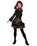 Party girl de cabelo vermelho de Goth Imagens de Stock Royalty Free