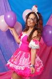 Party-Girl-Feier lizenzfreies stockfoto