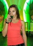 Party girl with glass Royalty Free Stock Image