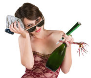 Party Girl with Hangover Stock Photos