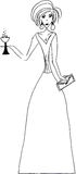 Party girl holding drink Royalty Free Stock Photos