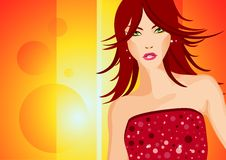Party Girl Illustration Royalty Free Stock Photos