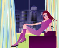 Party girl in london Stock Image