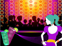Party girl vector Royalty Free Stock Photos