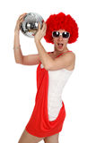 Party girl on white Royalty Free Stock Photography