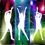 Party girls. With grunge background illustration vector Royalty Free Stock Photo