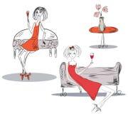Party girls vector illustration