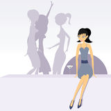 Party girls stock illustration