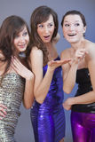 Party girls flirting Stock Photos
