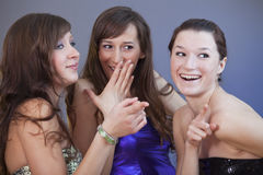 Party girls gossip Stock Photo