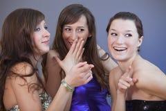 Party girls gossip Stock Photo