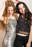 Party girls having fun Royalty Free Stock Images