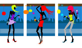 Party girls vector Stock Image