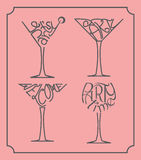 Party glass designs Royalty Free Stock Photography