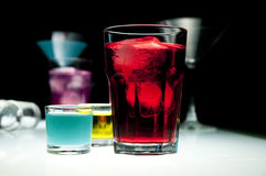Party glasses stock photos
