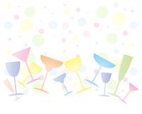 Party glasses Stock Photo